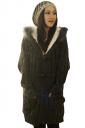 Black Chic Ladies Fur Ball Hooded Toggle Long Plain Sweater Coat