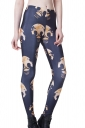 Black Punk Ladies Skinny Skull Printed Skeleton Leggings