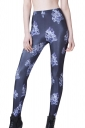 Black Cool Ladies Skull Printed Sliming Skeleton Leggings