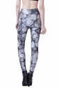 Gray Modern Ladies Skull Printed Skinny Skeleton Leggings