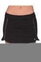 Black Trendy Side Slit Elastic Womens Mini Skirt