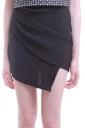 Womens Irregularly Sexy Chic Mini Skirt Black