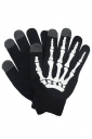 Womens Hand Skeleton Pattern Touch Screen Gloves Black