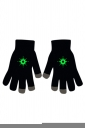 Womens Chic Noctilucent Stars Full Finger Touch Screen Gloves Black