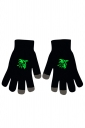 Womens Chic Noctilucent Phoenix Full Finger Touch Screen Gloves Black