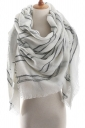 Womens Warm Colorful Plaid Pattern Cashmere Shawl Scarf White