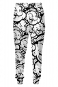 Womens Popeye 3D Digital Print Leisure Harem Sweatpants White