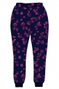 Womens Petal 3D Digital Print Leisure Harem Sweatpants Purple