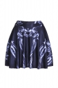 Womens Stylish Bones Digital Print Elastic Waist Mini Skirt Black