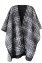 Womens Stylish Thick Warm Plaid Patterned Shawl Scarf White