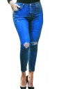 Womens Sexy High Waisted Ripped Jeans Blue