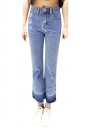 Womens Casual High Waist Ankle Length Jeans Light Blue