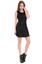Womens Fish Scale Patterned Liquid Tank Dress Black