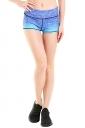 Womens Seamless Splicing Gradient Sports Shorts Blue