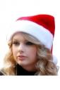 Womens Christmas Pom Pom Beanie Hat Red