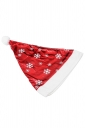 Womens Cute Snowflake Applique Christmas Hat Red
