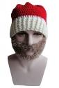 Womens Knitted Christmas Pom Pom Beanie Hat Gray
