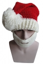 Womens Knitted Christmas Pom Pom Beanie Hat White