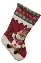 Womens Snowflake Applique Embroider Christmas Decoration Stocking Red