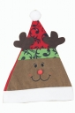 Womens Reindeer Applique Christmas Pom Pom Bonnie Hat Khaki