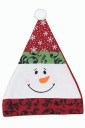 Womens Snowman Applique Christmas Pom Pom Bonnie Hat Red