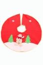 Womens Snowman Applique Christmas Tree Skirt Red