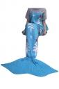 Womens Christmas Tree Patterned Mermaid Woolen Blanket Blue
