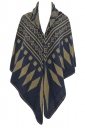 Womens Rhombus Patterned Warm Shawl Scarf Yellow