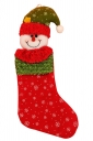 Womens Cute Snowflake Snowman Christmas Decoration Stocking Red