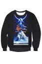 Womens Pullover Imaginary Wonder Printed Long Sleeve Sweatshirt Black