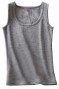 Womens Lined Warm U-neck Plain Sleeveless Tank Top Dark Gray