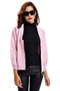 Womens Zip Up Long Sleeve Short Blazer Pink