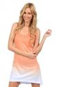 Womens Gradient U Neck Sleeveless Tank Dress Orange