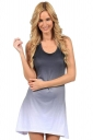 Womens Gradient U Neck Sleeveless Tank Dress Gray