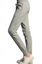 Womens Drawstring-waist Pockets Ankle-length Leisure Pants Gray