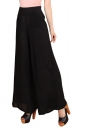 Womens High Waist Tunic Leisure Plain Palazzo Pants Black