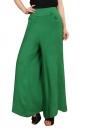 Womens High Waist Tunic Leisure Plain Palazzo Pants Green