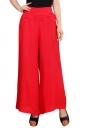 Womens High Waist Tunic Leisure Plain Palazzo Pants Red