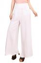 Womens High Waist Tunic Leisure Plain Palazzo Pants White