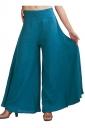 Womens Plain Palazzo Leisure Pants Blue