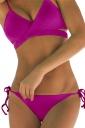 Womens Sexy Bikini Push-up Halter Top&String Swimsuit Bottom Rose Red