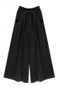 Womens Drawstring Waist Plus Size Palazzo Leisure Pants Black