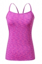 Womens Spaghetti Straps Slimming Cut Out Camisole Top Purple