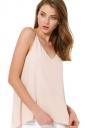 Womens Sexy Plain Strips Chiffon Camisole Top Beige White