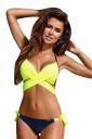 Womens Halter Cross Bandage Top&Printed Bottom 2Pcs Bikini Green