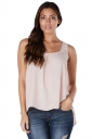 Womens Halter Open Back Bow Camisole Top Pink