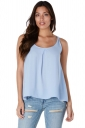Womens Halter Open Back Bow Camisole Top Light Blue