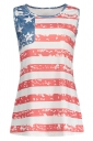 Womens Stars&Stripes Printed Camisole Watermelon Red