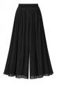 Women Casual Plus Size Pleated Loose Wide Legs Pants Black