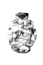 Dreamy Smocke Digital Printed Hoodie White